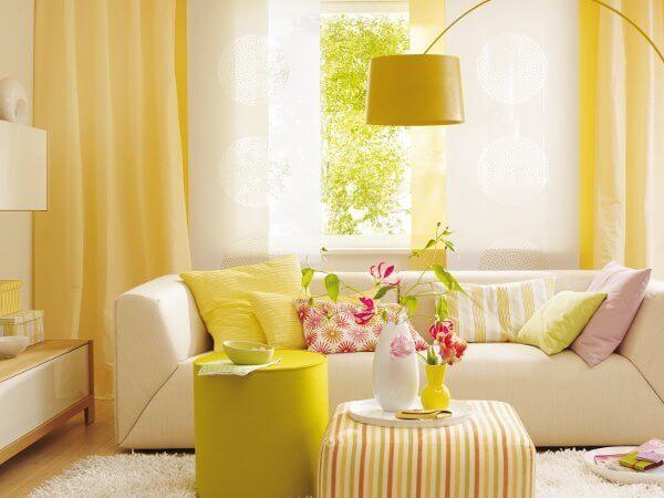 Sarı Renkte Dekorasyon