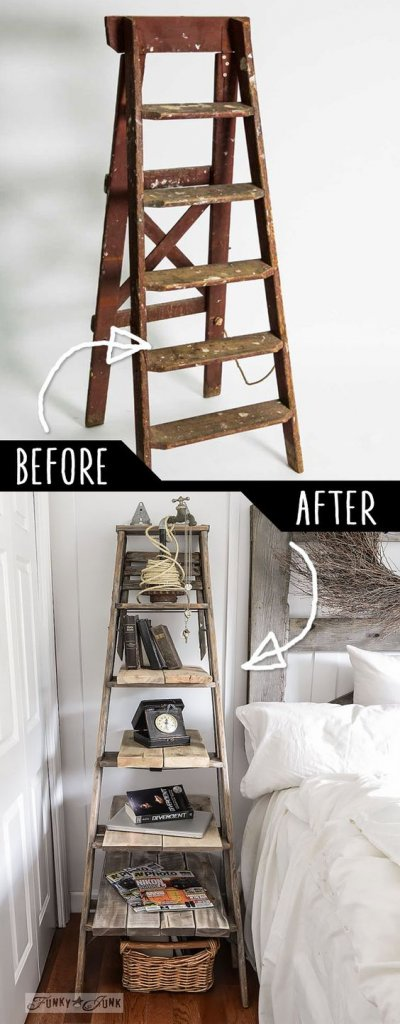 tahta-merdivenden-dekoratif-kitaplik-rafi-yapmak