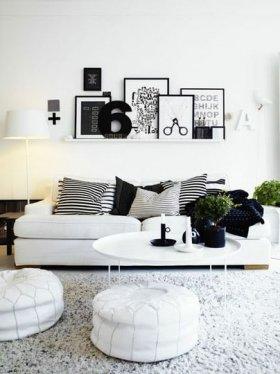 Beyaz Minimalist Ev Dekorasyonu Örnekleri