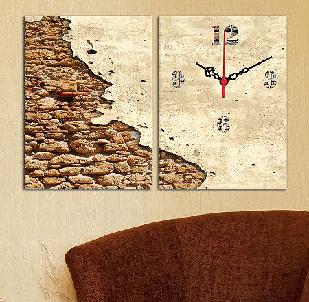 İki Parçalı Kanvas Saat