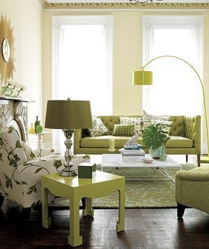 Salonda Yeşil Kullanımı