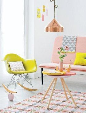 Dekorasyonda Son Trend: Pembe-Sarı Renginde Dekorasyon