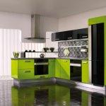 Siyah Yeşil Mutfak