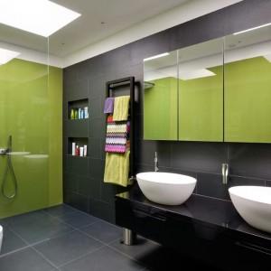 Yeşil Siyah Banyo Dekorasyonu