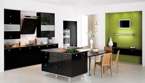 Yeşil Siyah Mutfak Dekorasyonu