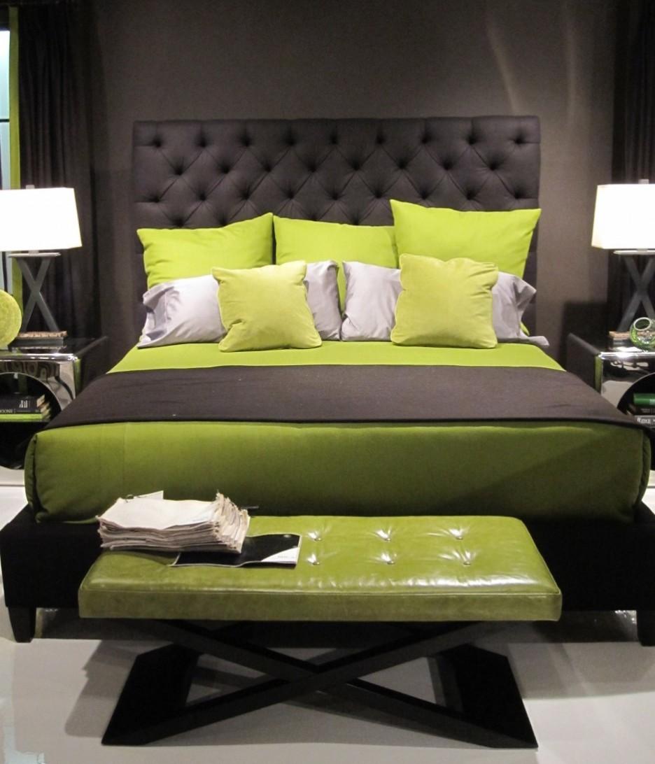 Yeşil Siyah Yatak Odası Dekorasyonu
