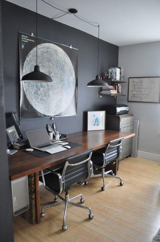 ofis-dekorasyonu-siyah-aydinlatma
