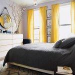 sari-renk-perde-ile-yatak-odasi-dekorasyonu