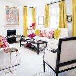 sari-renk-perdeler-ile-dekorasyon-fikirleri