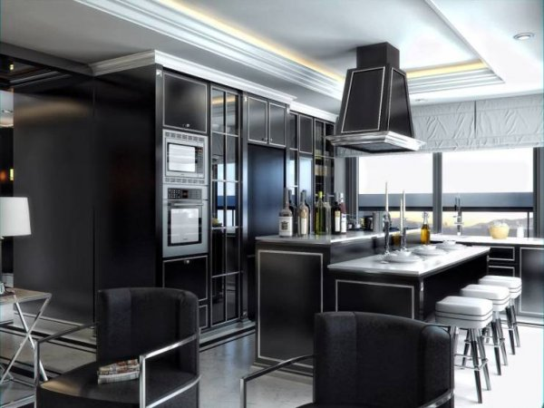 siyah-ve-luks-mutfak-dekoru