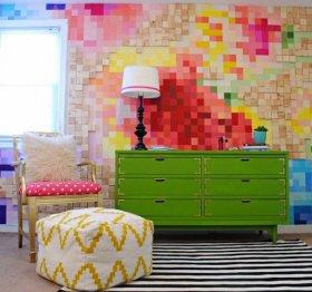 Evlerde Piksel Tablo Modası