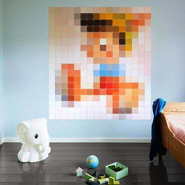 Duvarlarda Piksel Tablo Modası