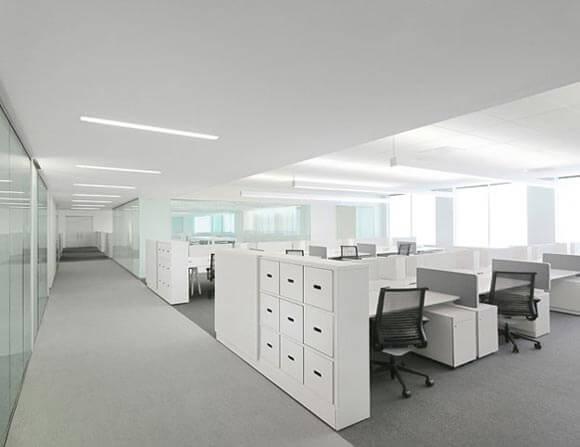 Beyaz Ofis Dekorasyonu