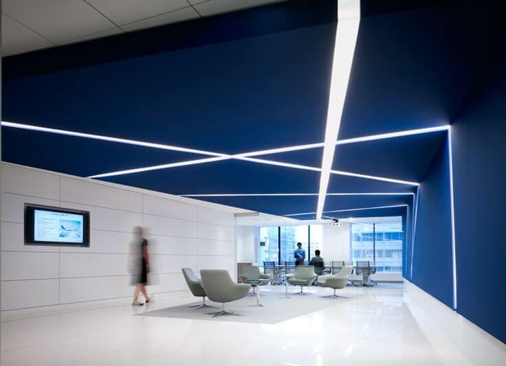 Mavi Ofis Dekorasyonu