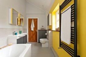 Sarı Renkli Modern Banyo Dekorasyon Örnekleri