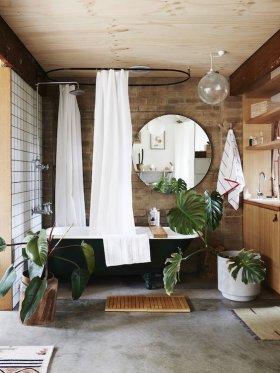 Duş Perdesi Kullanılmış Banyo Dekorasyonları
