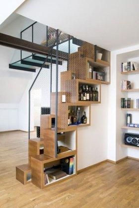 Çok Katlı Evler için Merdiven Tasarımı Örnekleri